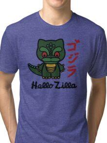 Hello Zilla Tri-blend T-Shirt