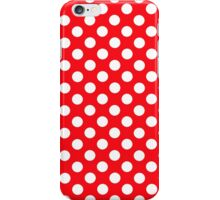 polkadot red iPhone Case/Skin