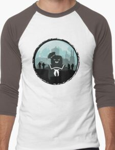 Ghostbusters versus the Stay Puft Marshmallow Man Men's Baseball ¾ T-Shirt