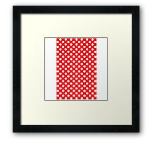 polkadot red Framed Print