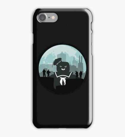 Ghostbusters versus the Stay Puft Marshmallow Man iPhone Case/Skin