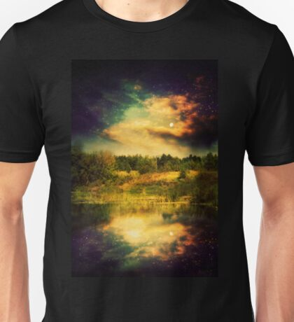 Night Forest and River 2 Unisex T-Shirt