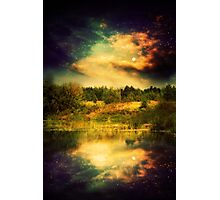 Night Forest and River 2 Photographic Print