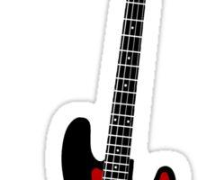 Bass Guitar Minimalist Design Sticker