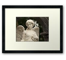 angel with wreath Framed Print