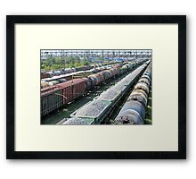 train yard full Framed Print