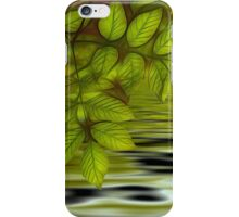 Green leaves background in summer with shallow depth of field iPhone Case/Skin