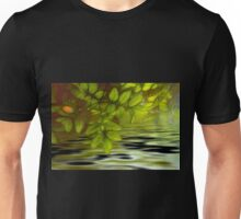 Green leaves background in summer with shallow depth of field Unisex T-Shirt