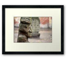 stone Aztec gods Framed Print