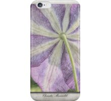 Clematis Miniseelik iPhone Case/Skin