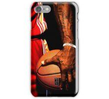 lebron james handling ball iPhone Case/Skin