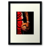 lebron james handling ball Framed Print