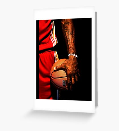 lebron james handling ball Greeting Card