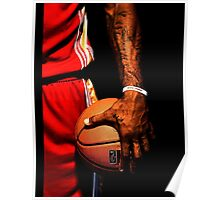lebron james handling ball Poster
