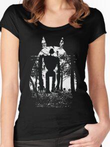 Miyazaki Forest Women's Fitted Scoop T-Shirt