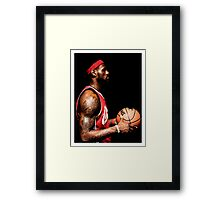 james 23 Framed Print
