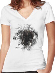 Smokey Mask Women's Fitted V-Neck T-Shirt
