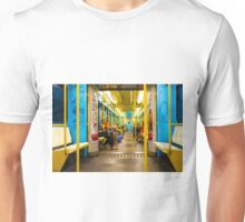 Subway carriage in Milano, Italy Unisex T-Shirt