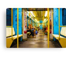 Subway carriage in Milano, Italy Canvas Print