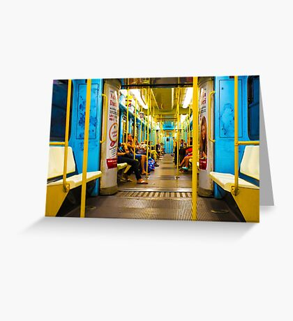 Subway carriage in Milano, Italy Greeting Card