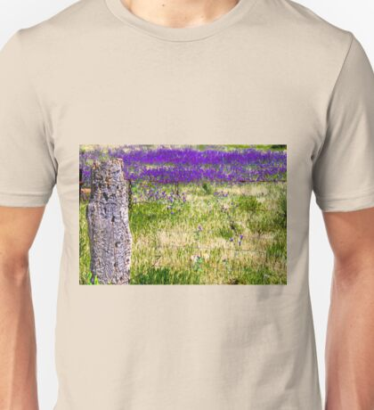 Fence in need of repair and Salvation Jane Unisex T-Shirt