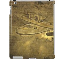 An old photograph of a WWII Royal Air Force Saro Cloud A29, Under Fire iPad Case/Skin