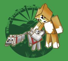 Stampy's World featuring Mr. Stampy Cat and Gregory the Dog! - green emblem by Julia Borsos