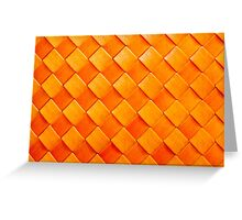 Orange squares, 3D textured background Greeting Card