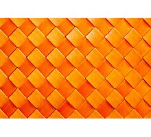 Orange squares, 3D textured background Photographic Print