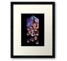 Soluble Cuboid Framed Print