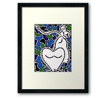 Blue Bubbled Framed Print