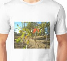A Splash Of Red_ Gum Leaves_Australia Unisex T-Shirt