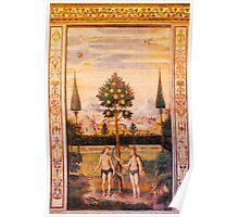 Adam and Eve Oil Painting Poster
