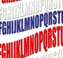 RED WHITE & BLUE alphabet-  Sticker