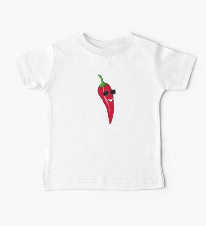 Funny Cartoon Chili Dude Sticker Baby Tee