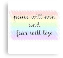 Peace Will Win Pastel Canvas Print