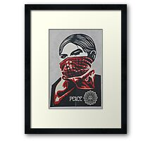 Shepard Fairey paste up London Framed Print