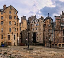 Panorama View: Lady Stairs Close, The Royal Mile Edinburgh by Miles Gray