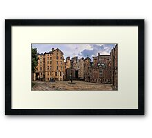 Panorama View: Lady Stairs Close, The Royal Mile Edinburgh Framed Print