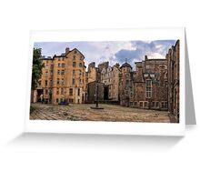 Panorama View: Lady Stairs Close, The Royal Mile Edinburgh Greeting Card