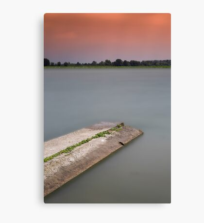 sunset on the lakes in Italy in a long exposure Canvas Print