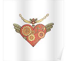 Love steampunk heart Poster