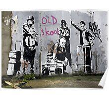 Banksy, Old Skool, London Poster