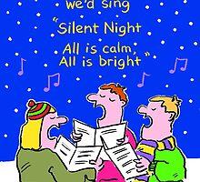 Christmas Card - Silent Night. by Nigel Sutherland