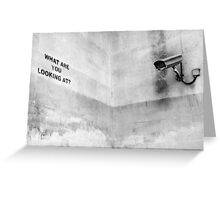 Banksy, What are you looking at? Greeting Card