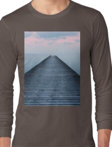 Sunset on the old pier Long Sleeve T-Shirt
