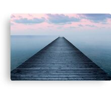 Sunset on the old pier Canvas Print