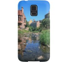 Long Exposure: The Water of Leith with Well Court (Left) & Dean Village (Right) Samsung Galaxy Case/Skin