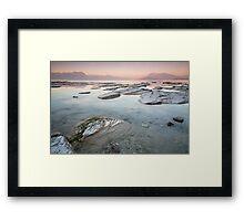 Sunset on Lake Garda Framed Print