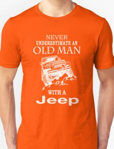 An old man with a jeep Tshirt & Hoodie Unisex T-Shirt